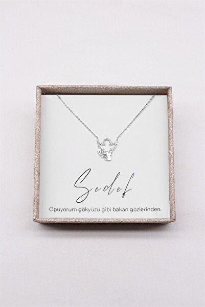 TAKIŞTIR Hediye Kutulu Gümüş Renk Melek Figürlü Kolye