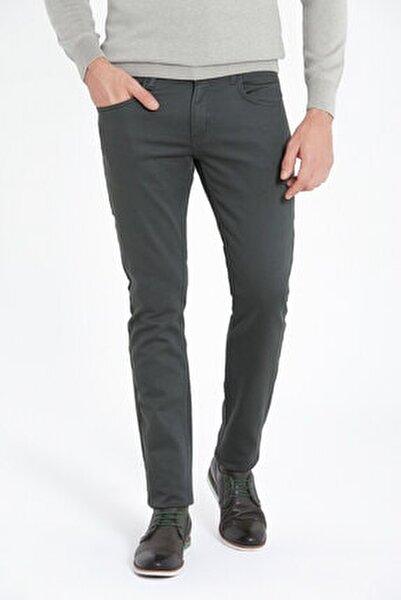 Erkek Haki Slim Fit Spor Pantolon