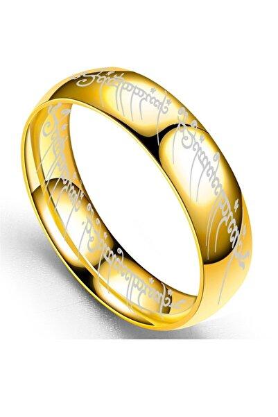 VipBT Lord Of The Rings Hobbit Güç Sırlar Yüzüğü Yüzüklerin Efendisi Cosplay Yüzük Altın Sarısı