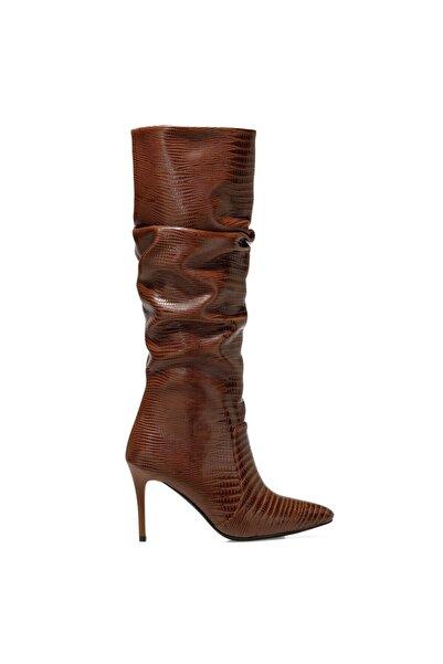 Nine West Sısso Taba Kadın Ökçeli Çizme