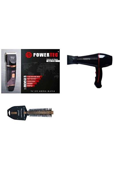 Powertec 3200traş Makinası+ Tr-601 Fön Makinası+tarak