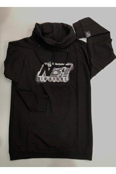 New Brand Kadın Siyah Sweat-shırt