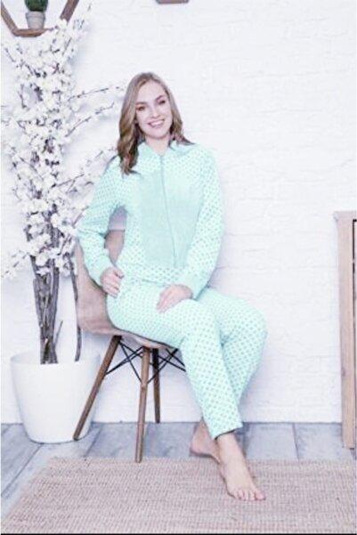 Pijamoni Kadın Açık Yeşil Polar Tulum