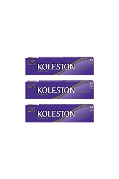 Koleston Saç Boyası Tüp 3 Lü Açık Kumral 8.0