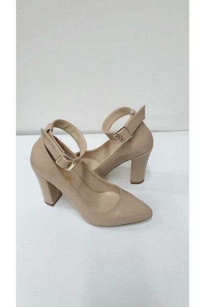 Almera Kadın Ten  Klasik Topuklu Ayakkabı