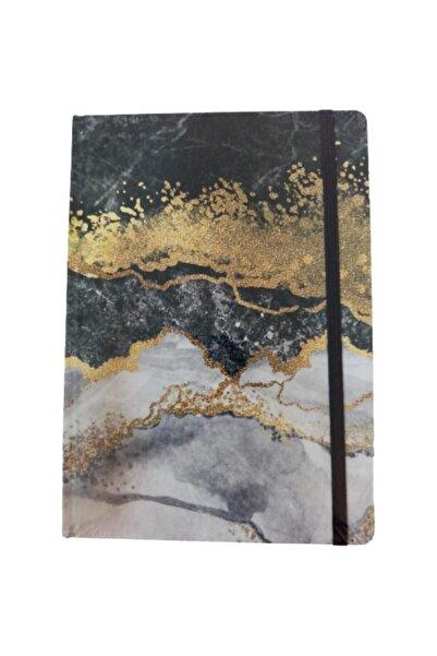 KESKİN COLOR 17x24 96 Yp.düz Ciltli  Marble Gold Defter