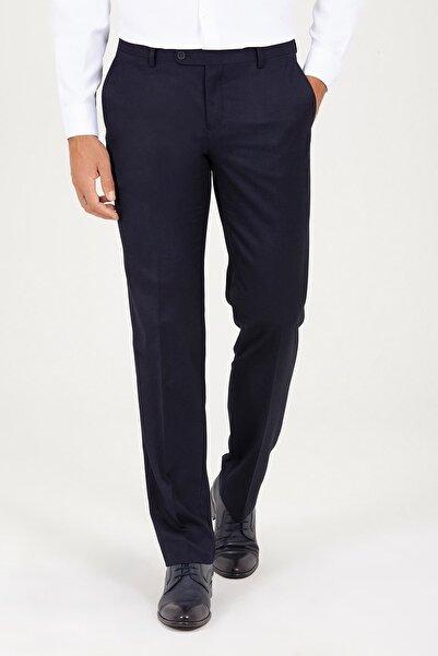 Hatemoğlu Erkek Lacivert Regular Fit Kumaş Pantolon