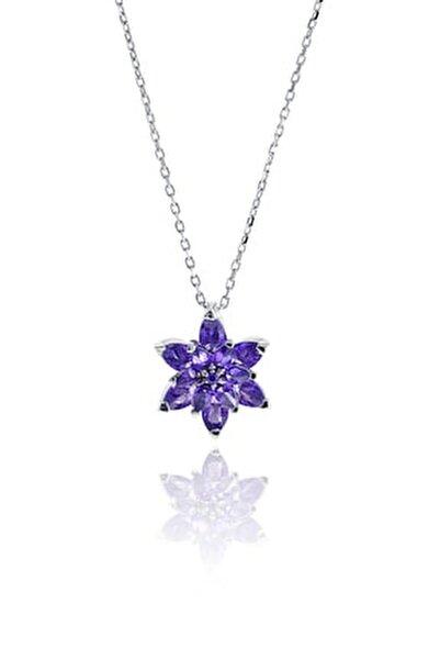 Lotus Çiçeği Tasarım Gümüş Kolye 6927