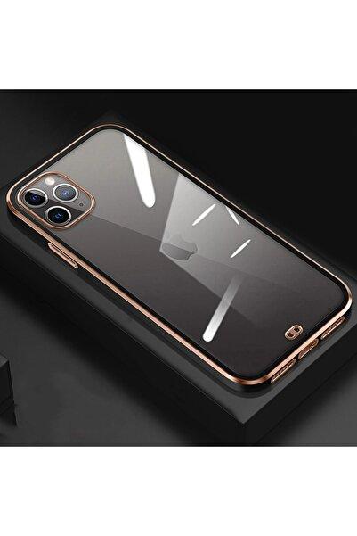 mooodcase Iphone 11 Pro Max Premium Electrolize Silikonlu Siyah Telefon Kılıfı