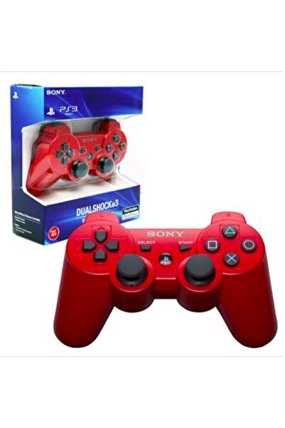 Sony Ps3 Joystick Ps3 Kol Kırmızı Şarj Kablosu Ile Birlikte