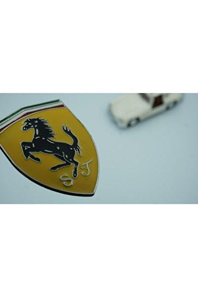 Ferrari Krom Metal Body 3m 3d Logo Amblem