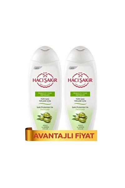 Hacı Şakir Şampuan Kremli Zeytinyağı-Tüm Saçlar 500 ml x 2 Adet