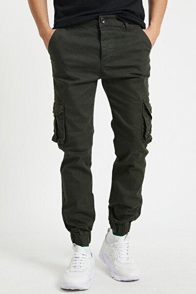 Serseri Jeans Erkek Körüklü Haki Renk Jogger Paçası Lastikli Pantolon