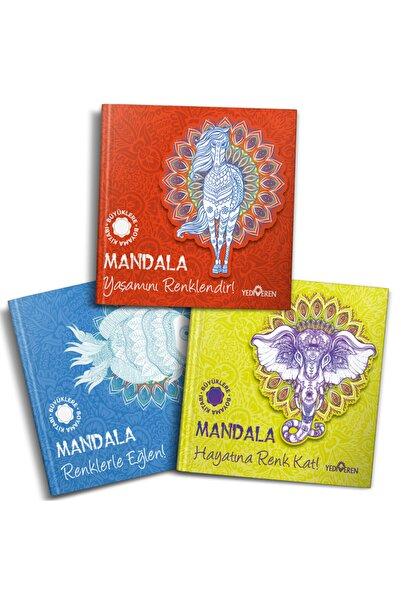 Yediveren Çocuk Mandala Büyükler Için Boyama Seti - 3 Kitap