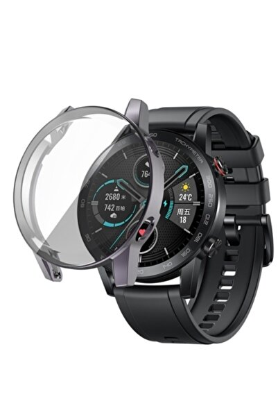 Revix Honor Watch Magic 2 46mm 360 Koruma Ultra Ince Silikon Kılıf - Gri