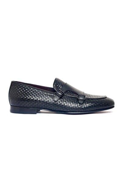 Giovane Gentile Erkek Siyah Toka Detaylı Klasik Ayakkabı