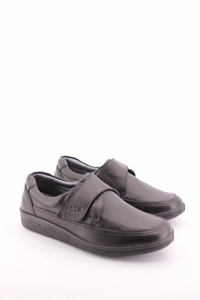Esse Kadın Siyah Tam Ortopedik Deri Klasik Ayakkabı