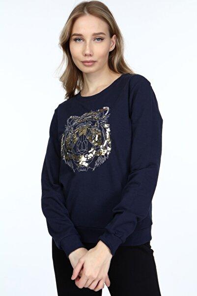 HomeStore Kadın Lacıvert Sweatshirt 2065022000619