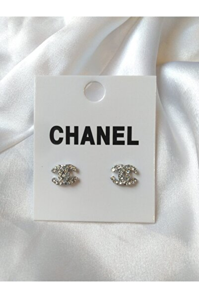 HİLLSCARF Chanel Model Gümüş Küpe