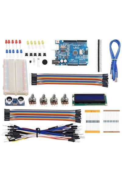 Arduino 124 Parça Uno R3 Robotik Kodlama Uygulamaları Süper Başlangıç Proje Eğitim Seti T1 Kutu Hediyeli
