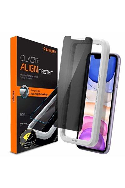 Spigen Iphone 11 / Xr Cam Ekran Koruyucu Kolay Kurulum, Alignmaster Privacy