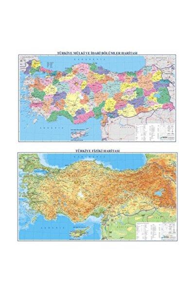 Gürbüz Türkiye Fiziki + Siyasi (70x100) Çift Taraflı Harita