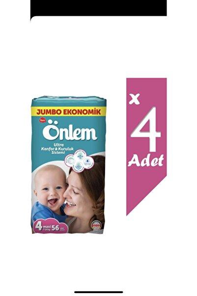 ÖNLEM Jumbo Ekonomik Paket Bebek Bezi 4 Beden Maxi 7-14 Kg 56*4 224 Adet