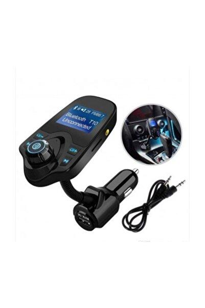 Kingboss T10 Wifi Bluetooth Araç Kiti Fm Usb Fm Transmitter %2b Araç Kiti Siyah