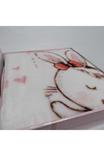Özdilek Pudra Pembe Peluş Dancer Bunny Bebek Battaniyesi