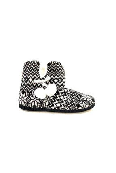 Kadın Siyah Ev Botu Ayakkabısı