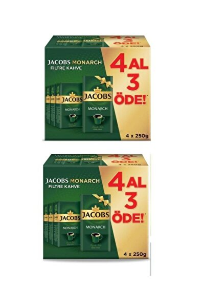 Jacobs Monarch Filtre Kahve 250 gr 4 Al 3 Öde 2'li Set  250 gr X 8 Ad