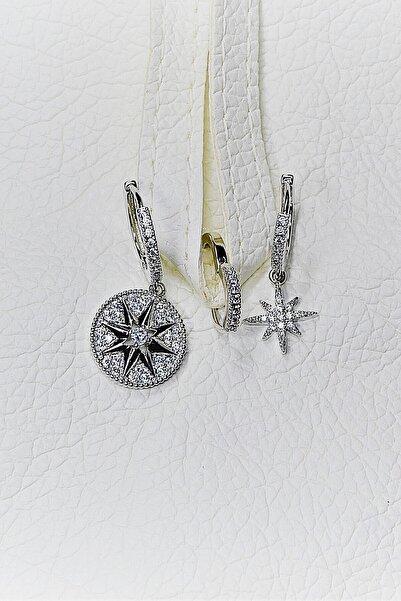 Teen Jewellry Orjinal Zirkon Taşlı Xuping Silver Kuzey Yıldızı Küpe Takımı