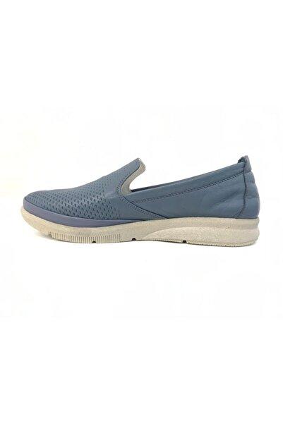Stella Kadın Kot Mavisi Deri Ayakkabı