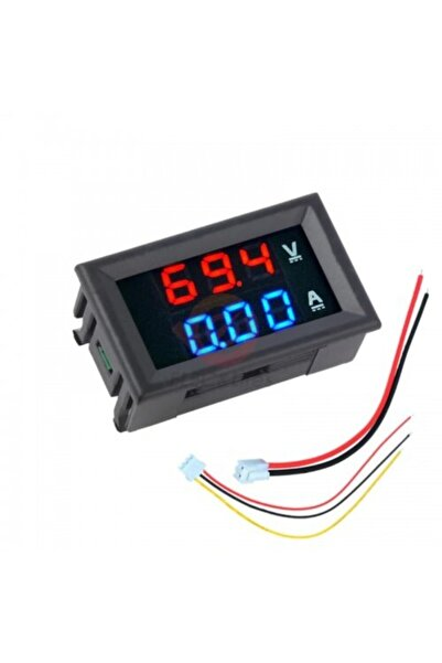 Ugreen Dijital Dual Voltmetre Ampermetre Volt Akım Ölçer Dc 0-100v 10a