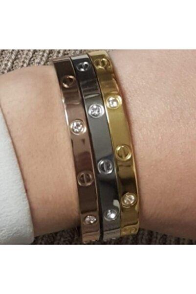 X-Lady Accessories Unisex Kararmaz Kartier Kombin Çelik Bileklik