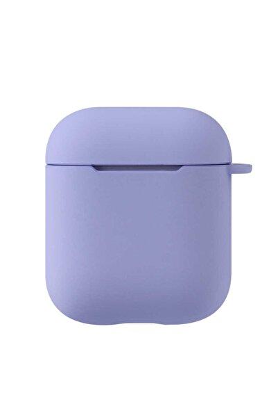 zore Apple Airpods Uyumlu Darbe Emici Wireless Şarj Destekli Soft Görünüm Mat Renkli Silikon Askılı Kılıf