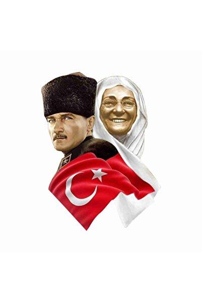 Sticker Atölyesi Atatürk ve Zübeyde Han��m Sticker 7.5 X 10  11016
