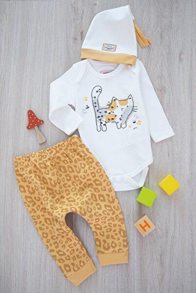 Miniworld Kız Bebek Sarı Little Cat Badili Takım 3'lü  15460