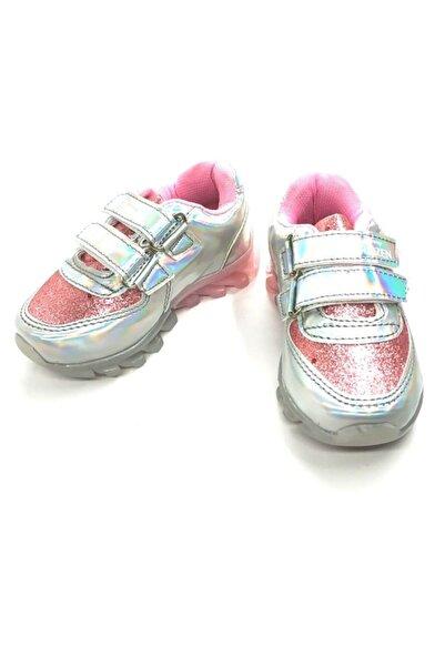 DISNEY Kız Çocuk Gümüş Frozen Hologramlı Tabanı Işıklı Spor Ayakkabı