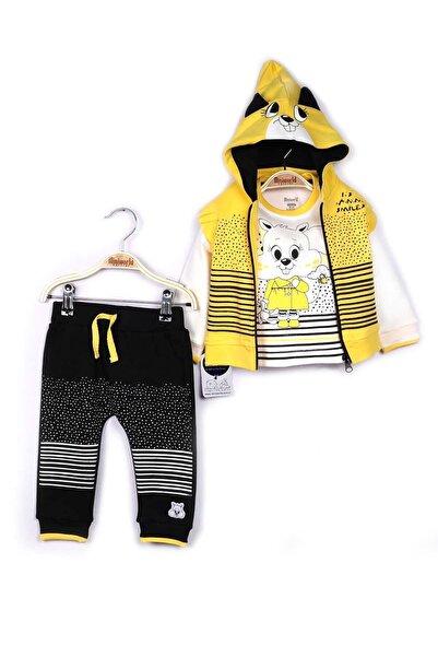 Miniworld Kız Bebek Hırka Sweatshirt Pantolon 3lü Takım 9-24 Ay 14796