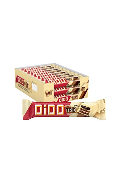Ülker Dido Trio Beyaz Sütlü Çikolatalı Gofret 36.5gr 24 Adet