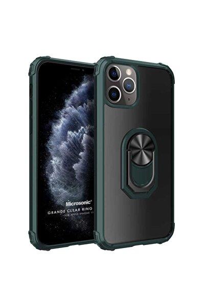Microsonic Microsonic Iphone 11 Pro Max Kılıf Grande Clear Ring Holder Yeşil