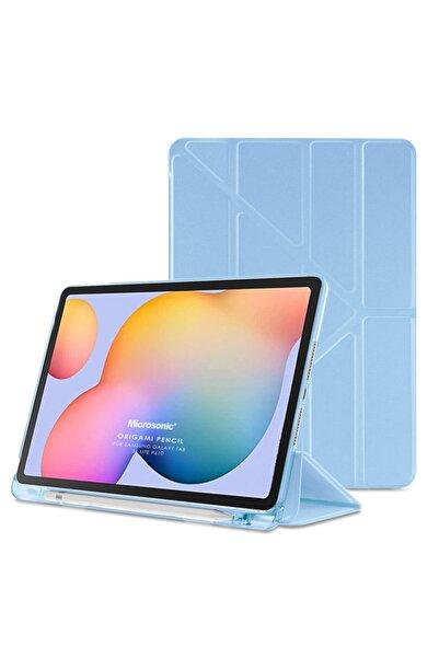 "Microsonic Microsonic Galaxy Tab S6 Lite 10.4"" P610 Kılıf Origami Pencil Mavi"