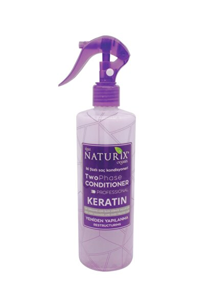 Naturix Zayıf Saçlar Keratin Bakım Iki Fazlı Sıvı Saç Kremi 400 ml Saç Kondisyoneri Fön Suyu Kolay Tarama