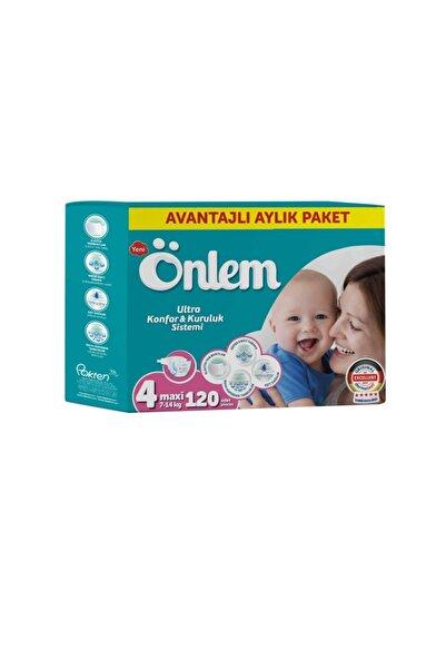 ÖNLEM Bebek Bezi Aylık Paket Maxi 120 Adet (7-14 Kg)