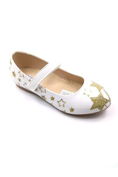 Flubber Yıldızlı Beyaz Altın Babet