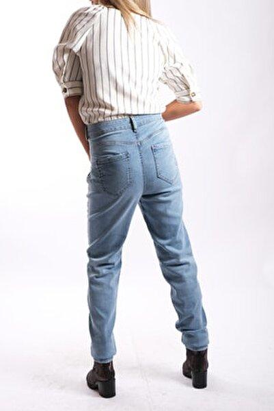 Kadın Beli Korseli Jeans