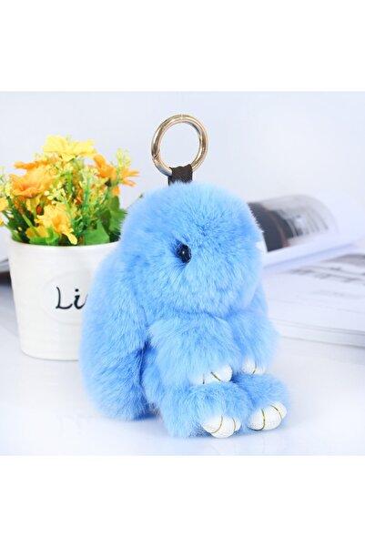 e-life Es1014 Suni Kürklü Sevimli Yumuşak Peluş Tavşan Anahtarlık & Çanta Aksesuarı 18 cm