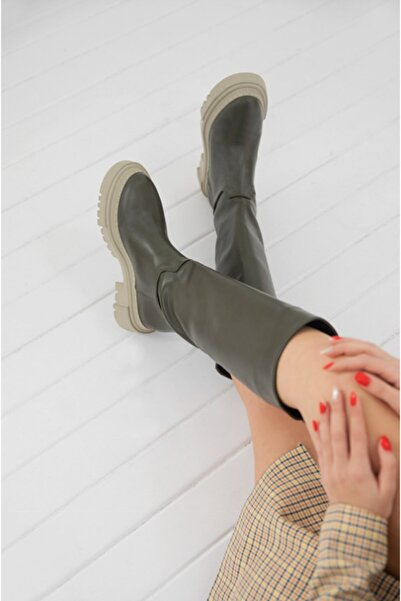 MAGGIANO Kadın Haki Stella Model Çizme