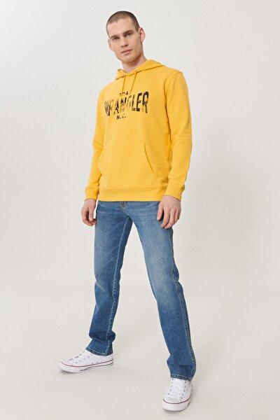 WRANGLER Arizona Erkek Koyu Mavi Straight Fit Normal Bel Düz Paça Esnek Jean Pantolon